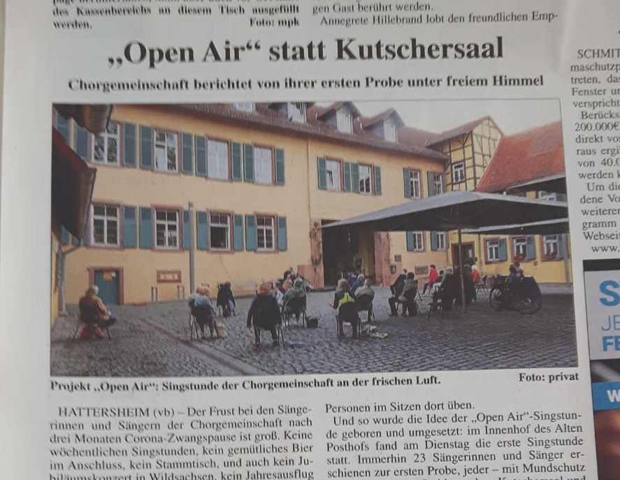 Open Air statt Kutschersaal